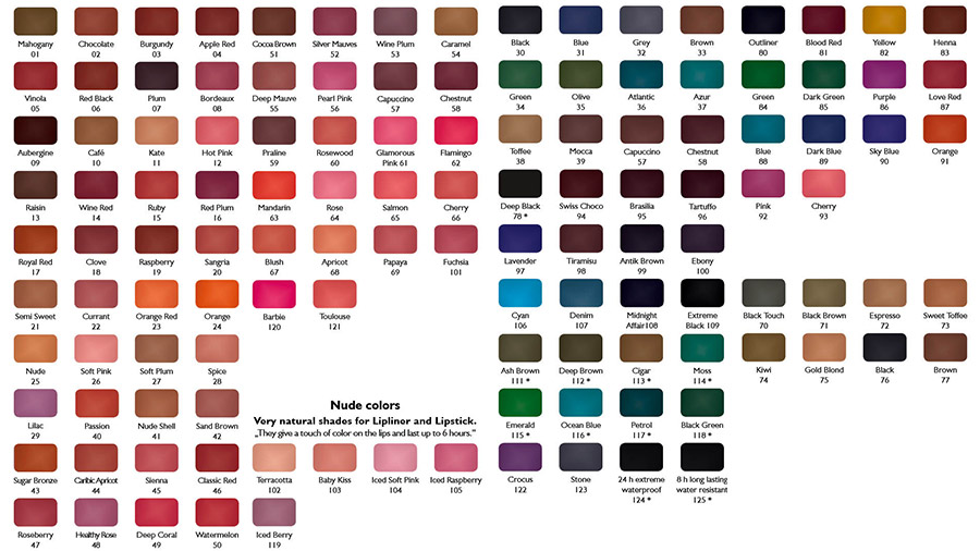 Color chart 2014